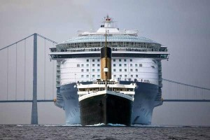 TITANIC 2 comparing with Oasis of the Seas