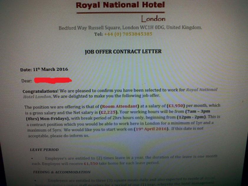 fake job letter2