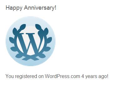 anniversary 4 years